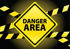 Danger area Stock Image