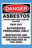 Danger Asbestos. Danger Sign with an asbestos warning Stock Photos