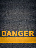 Danger Asphalt Road Markings Royalty Free Stock Photos