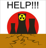 Danger of atomic power stations to the nature Stock Images