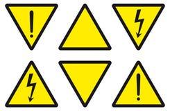 Danger, attention, l'électricité Photos stock