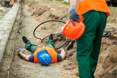 Danger au chantier de construction Image libre de droits