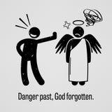 Danger au delà, Dieu oublié illustration de vecteur