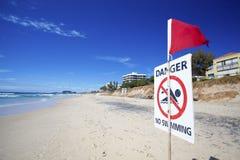 Danger aucune natation Images stock
