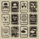 Danger. Authors illustration in vector Stock Images