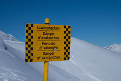 Danger of avalanches Royalty Free Stock Photo