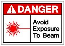 Danger Avoid Exposure To Beam Symbol Sign, Vector Illustration, Isolate On White Background Label. EPS10 royalty free illustration