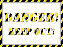 Danger! background Royalty Free Stock Photo