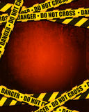 Danger Background. A Danger Do Not Cross Yellow Tape Background Stock Photo