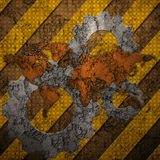 Danger background concrete wall royalty free illustration
