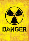 Danger backround. Vector grunge background with the radioactive warning symbol Royalty Free Stock Photography