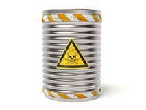 Danger barrel Royalty Free Stock Photo