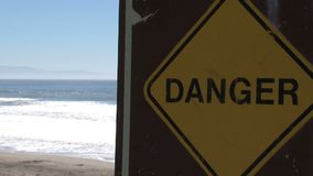 Danger at the beach Westcoast, California, United States stock video footage