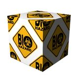 Danger biohazard cube Stock Photo