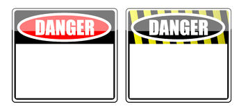 Danger Blank sign Stock Photos