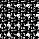 Danger Bone Seamless pattern. Seamless repeat pattern of skull for background Royalty Free Stock Photos