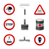 Danger building icons Stock Photo