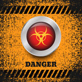 Danger  button silver symbol background   eps 10 illustrat Stock Photos