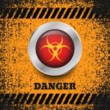 Danger button silver symbol background eps 10 illustrat. Danger button silver symbol background eps10 illustration Royalty Free Illustration