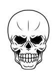 Danger cartoon skull Stock Image
