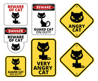 Danger cat Stock Image
