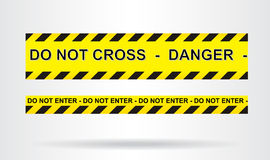 DANGER. Caution, danger, and police tape attention Royalty Free Stock Image