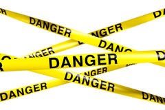 Danger caution tape Stock Images