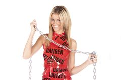 Danger chain smile Stock Photos