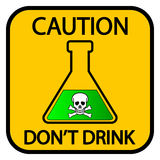Danger chemicals sign Royalty Free Stock Photography