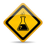 Danger chemicals. Vector warning sign Stock Images