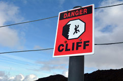 Danger Cliff Royalty Free Stock Photo