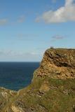 Danger on the clifftop walk Stock Photos