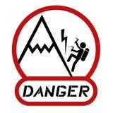 Danger climbing Stock Image