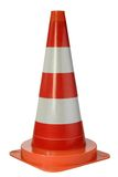 Danger cone. Isolated on white background Stock Photos