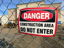 Danger Construction Area Do Not Enter Stock Images