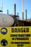 Danger Construction Site Royalty Free Stock Images