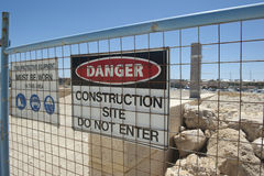 Danger Construction Site Stock Photography