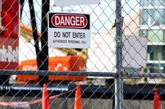 Danger: construction site Stock Images