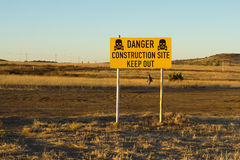 Danger construction site, keep out signal Stock Photography