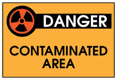 Danger Contaminated Area Stock Image
