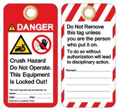 Danger Crush hazard do not operate this equipment is locked out Symbol Sign ,Vector Illustration, Isolate On White Background vector illustration