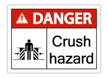 symbol danger crush hazard sign on white background vector illustration