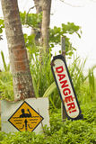 Danger & current warning Royalty Free Stock Images