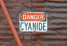 Danger Cyanide sign Stock Image