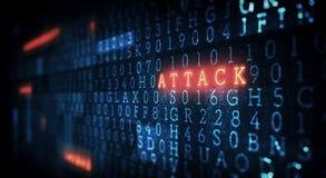 Danger d'attaque d'entaille images stock