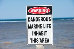 Danger d'avertissement Marine Species Photos stock