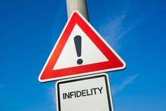 Danger d'infidélité Image libre de droits