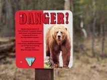 Danger d'ours Image libre de droits