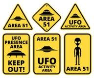 Danger d'UFO illustration libre de droits