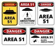 Danger d'UFO illustration stock